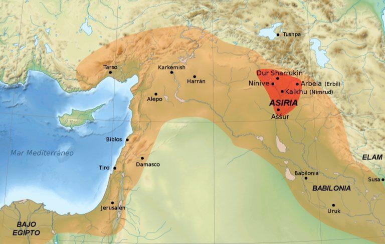 asiria mapa 768x488 - Asirios