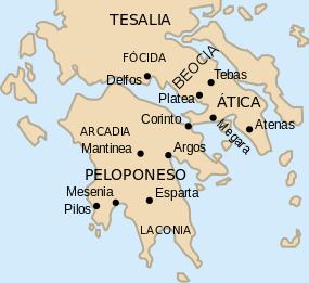 Atenas Mapa - Atenas - Antigua Grecia