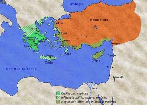 Civilización Micénica Mapa - Período Cretomicénico - Antigua Grecia