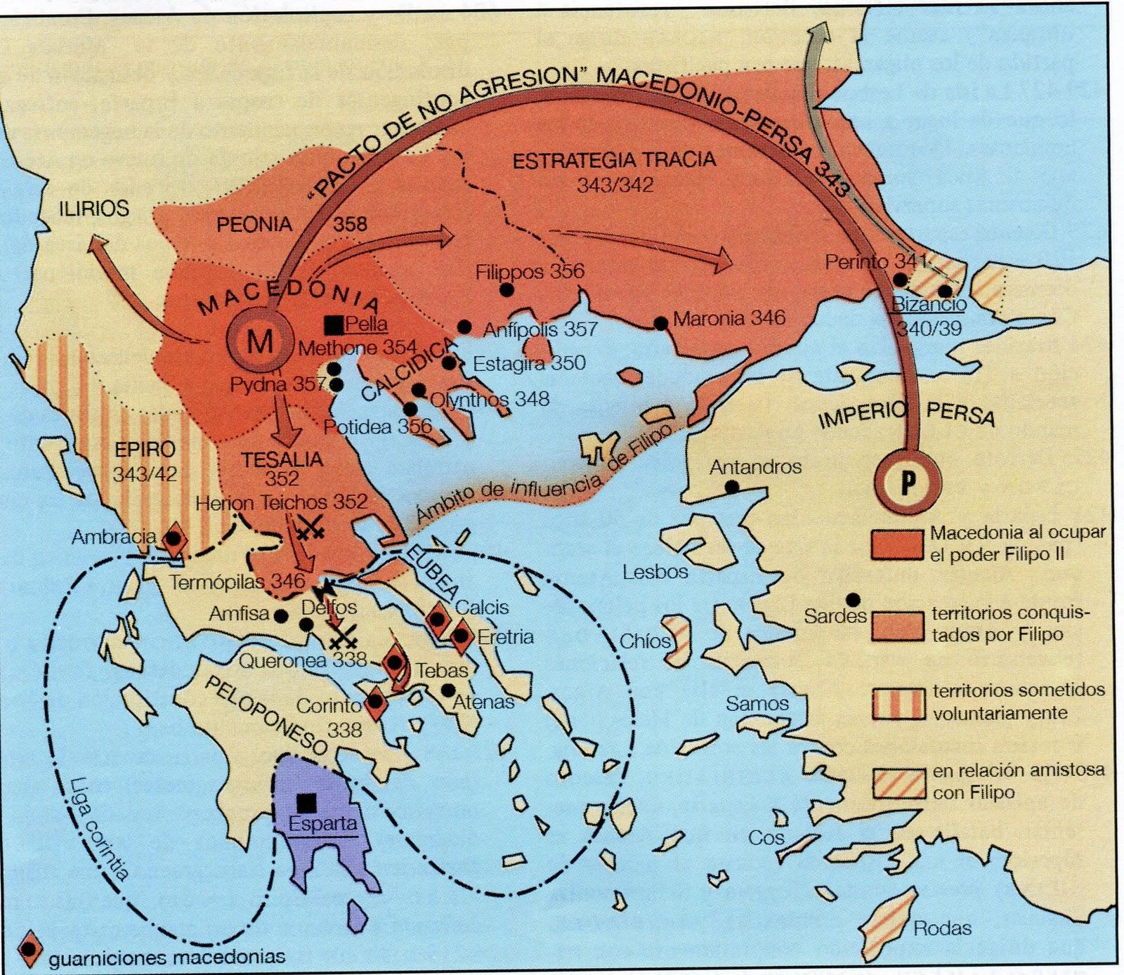 Expansion de Macedonia - Expansión de Macedonia: Filipo II y Alejandro Magno