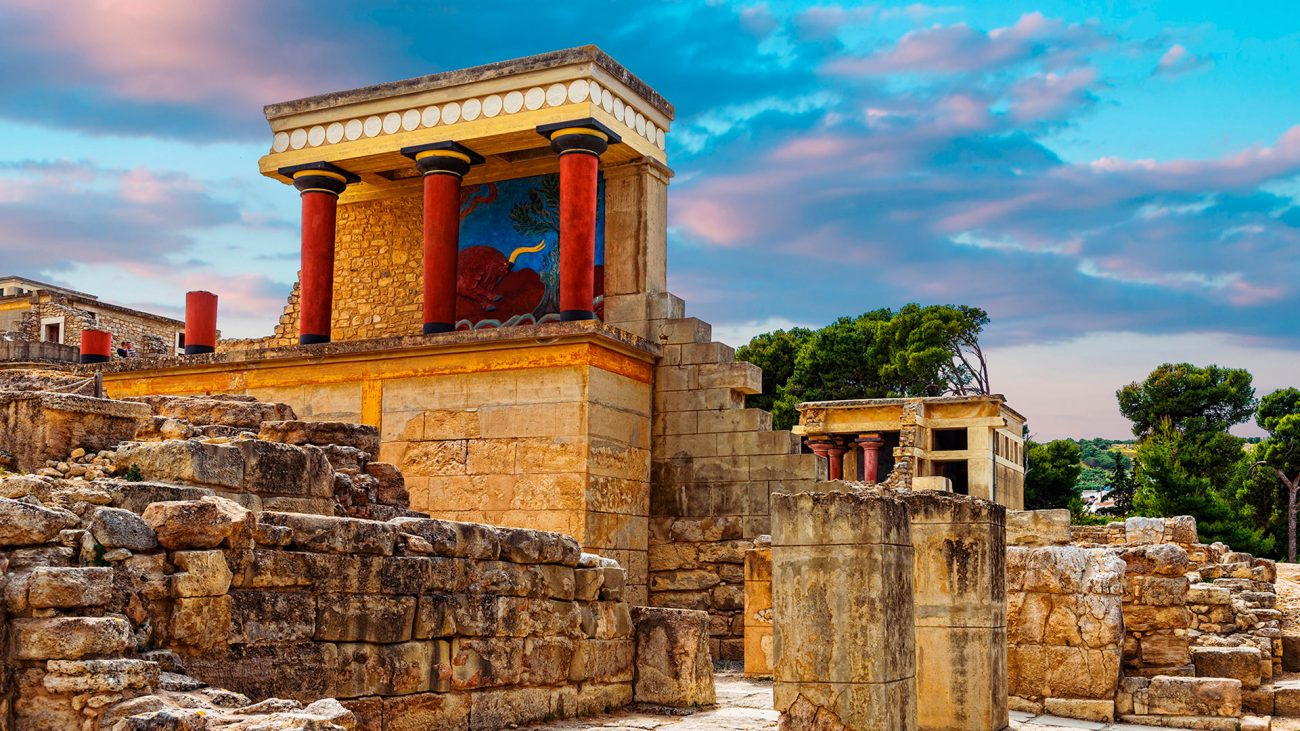 Palacio de Cnosos en Creta - Período Cretomicénico - Antigua Grecia