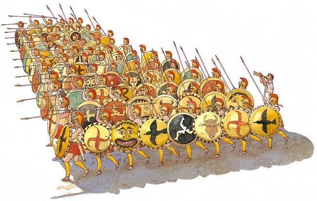 falange hplita - Período Arcaico - Antigua Grecia