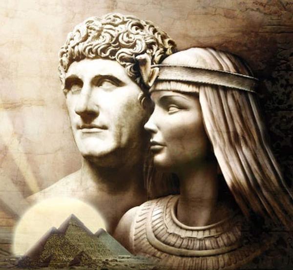 Cleopatra y Marco Antonio - Período Helenístico - Antigua Grecia