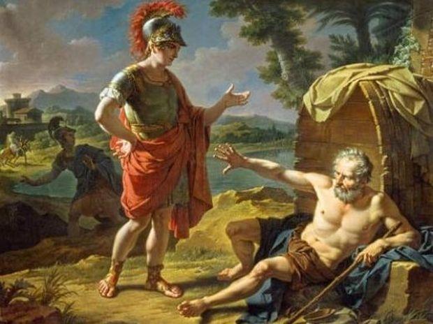 Diógenes y Alejandro Magno 2 - Filosofía: Cinismo
