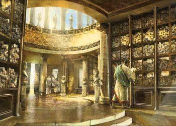 2Interior de la Biblioteca de Alejandría otoug23v37esjxn1zkrkq6ev09lygsckehdpb7d4xw - Período Helenístico - Antigua Grecia