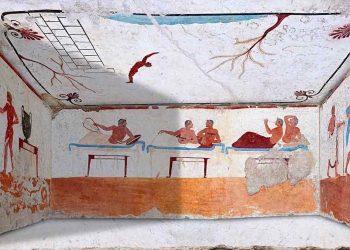 Frescos de la Tumba del Nadador osocqj62iu508u4iyou8ej8z6pdor4bu59frjpy3wk - Período Arcaico - Antigua Grecia
