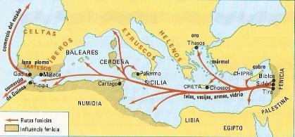 Fenicia rutas comerciales - Fenicios