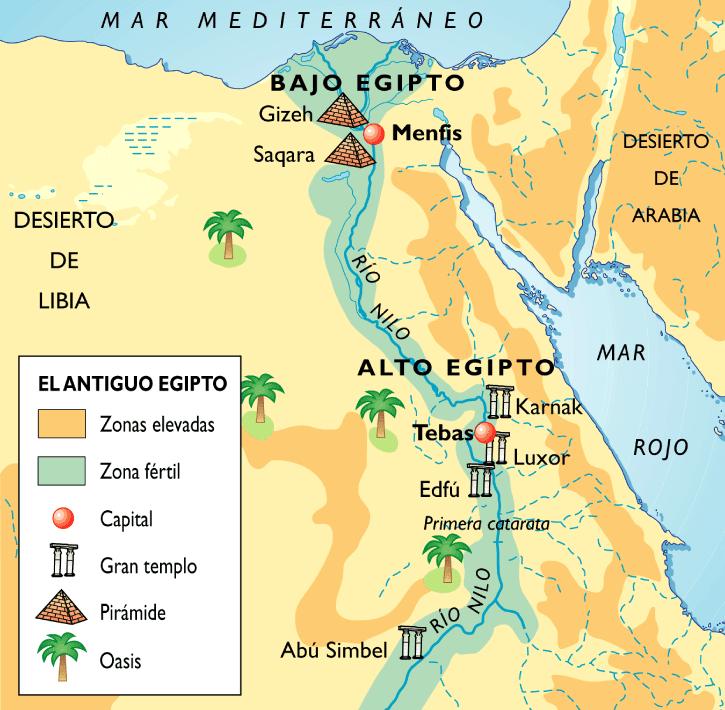 EgiptoAntiguo mapa - Antiguo Egipto
