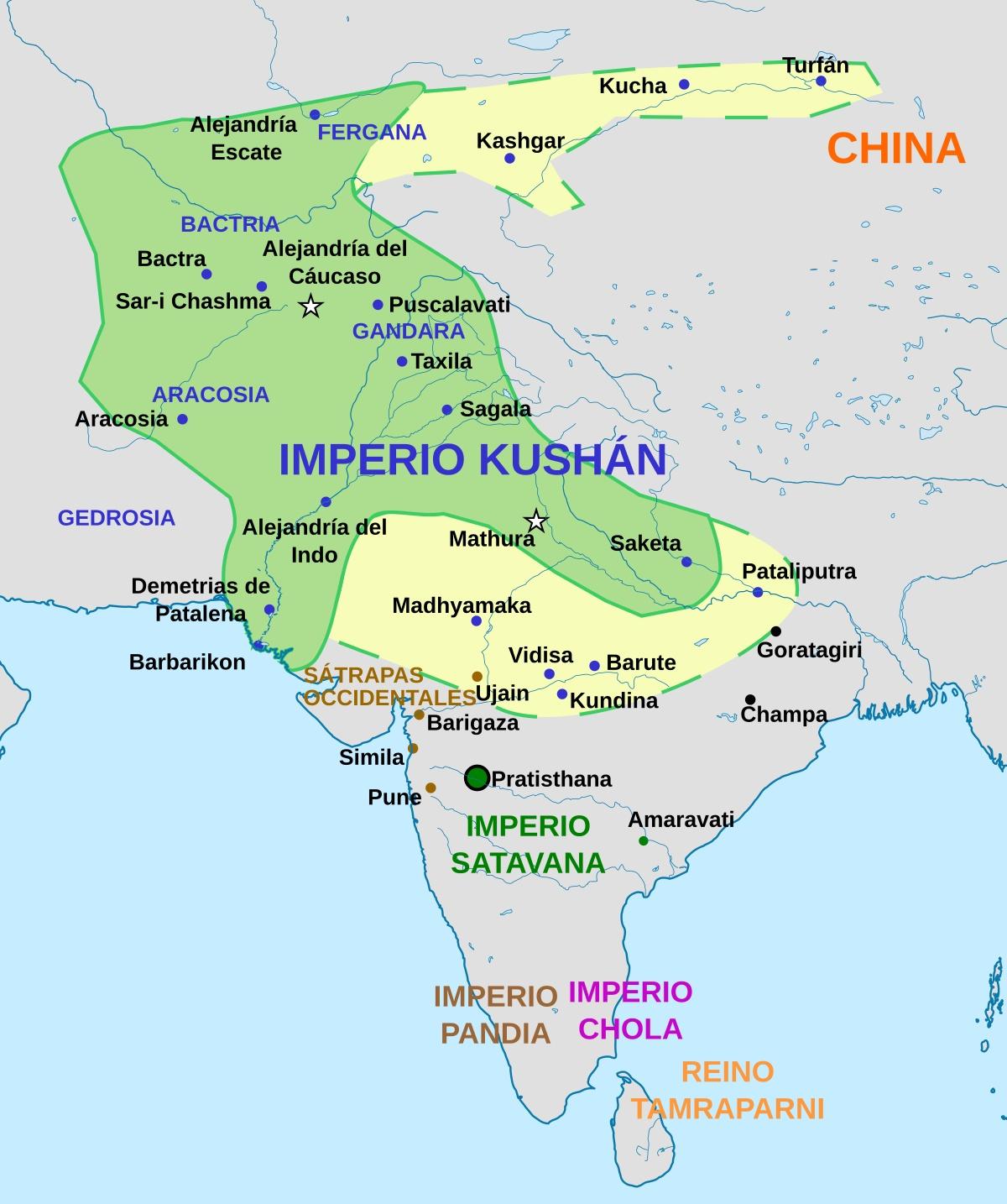 imperio kushan - India Antigua