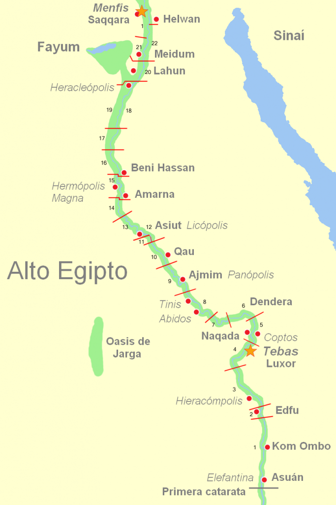 nomos de egipto 683x1024 - Imperio Medio - Egipto
