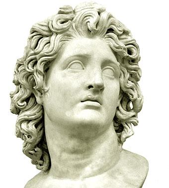 Alejandro Magno Busto - Período Helenístico - Antigua Grecia