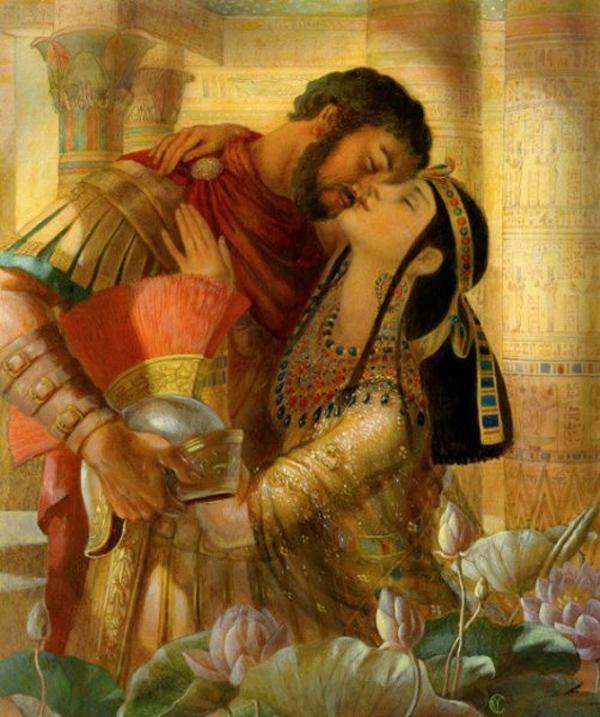 Cleopatra y Marco Antonio - Período Helenístico - Egipto