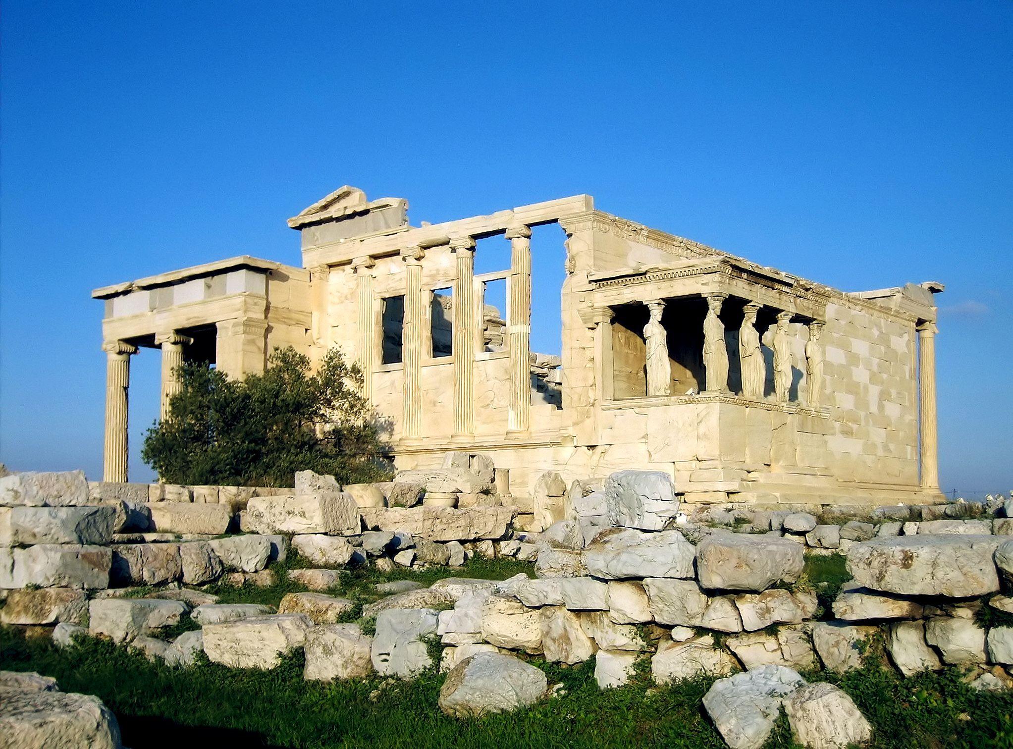 Erecteion Acrópolis de Atenas - Período Clásico - Antigua Grecia