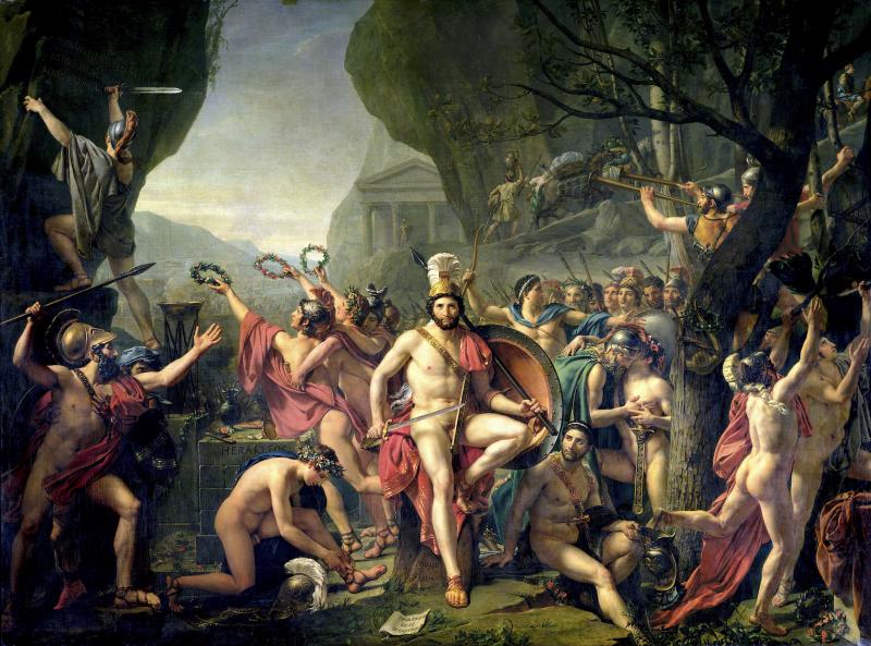 Leonidas en las Termopilas - Guerras Médicas - Antigua Grecia