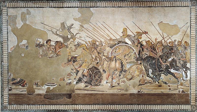 Mosaico de Issos - Expansión de Macedonia: Filipo II y Alejandro Magno