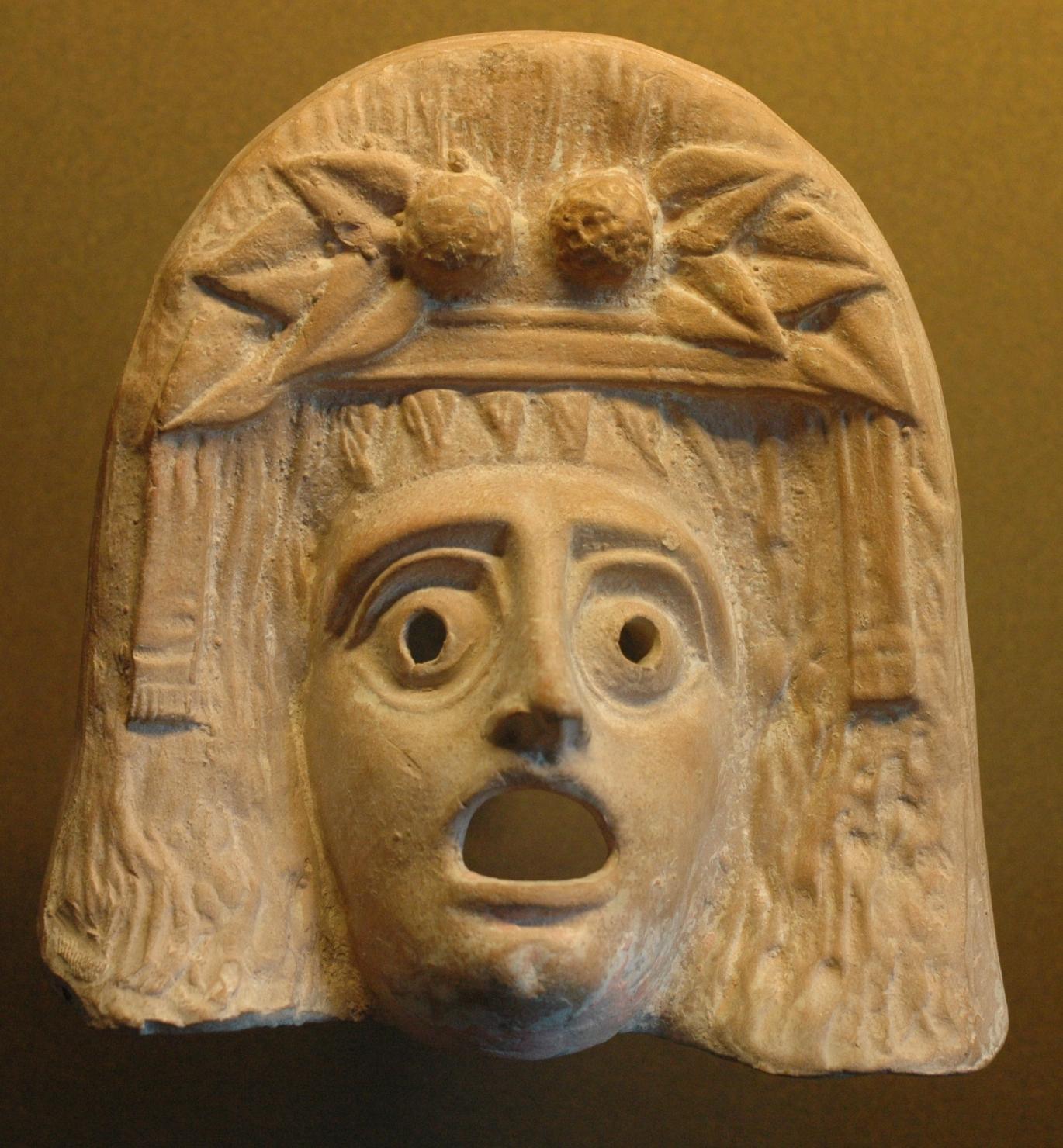 Tragedia griega Máscara de Dionisio - Período Arcaico - Antigua Grecia