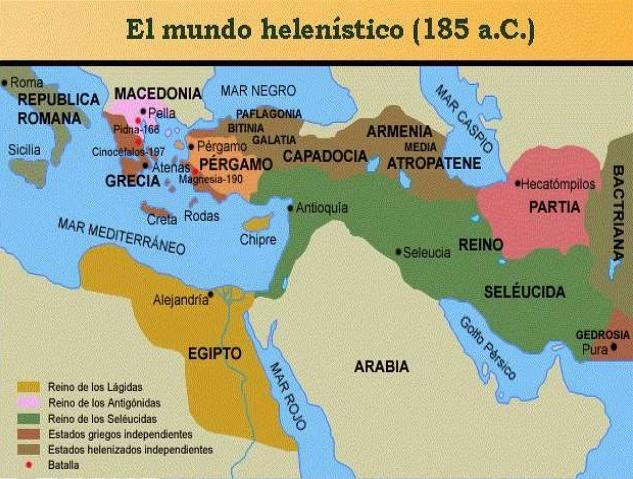 Mundo Helenístico3 - Período Helenístico - Antigua Grecia